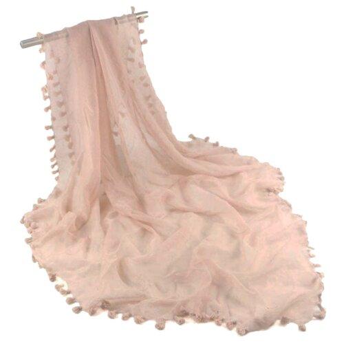 Платок с кисточками (розовый)
