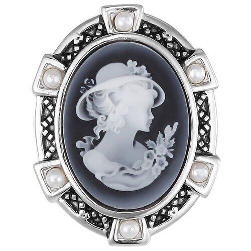 Balex Брошь 6448930043 из серебра 925 пробы с агатом природным и жемчугом культивированным