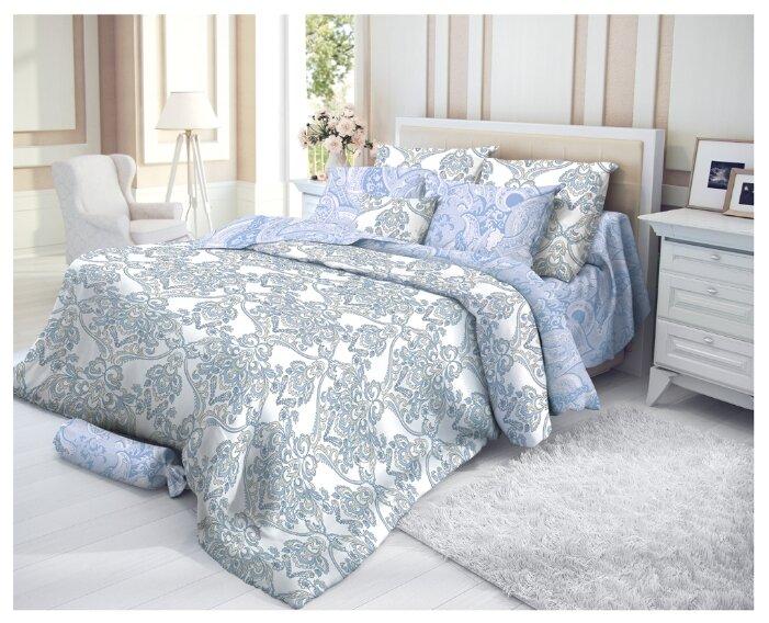 Двуспальный комплект постельного белья VEROSSA Сатин Manisa с наволочками 50*70
