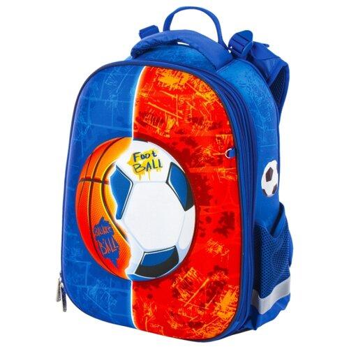 Юнландия Ранец Extra Sports ball (228802), синий/оранжевый юнландия ранец extra sports ball 228802 синий оранжевый