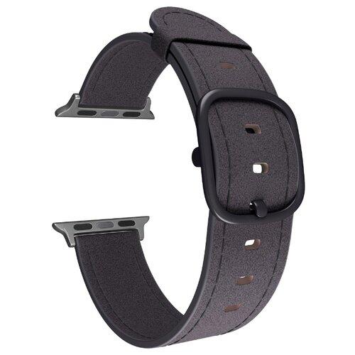 Lyambda Кожаный ремешок Minkar для Apple Watch 38/40 mm (DSP-03) black ремешок для часов lyambda для apple watch 42 44 mm minkar dsp 10 44 black
