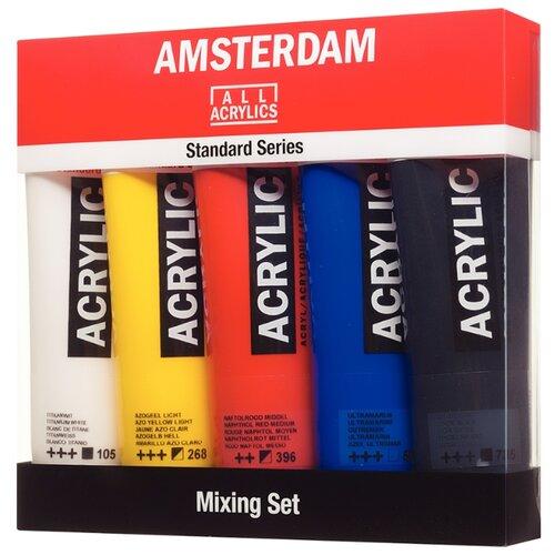 Купить Royal Talens Набор акриловых красок Amsterdam Стандарт Mixing 5цв*120мл, Наборы для рисования
