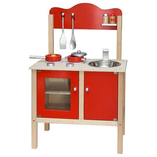 Купить Кухня Viga Noble Kitchen 50384 красный, Детские кухни и бытовая техника