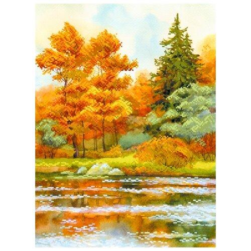 янтарная осень рисунок на шелке 37 49 37х49 29х39 матренин посад 4155 Янтарная осень Рисунок на шелке 37/49 37х49 (29х39) Матренин Посад 4155
