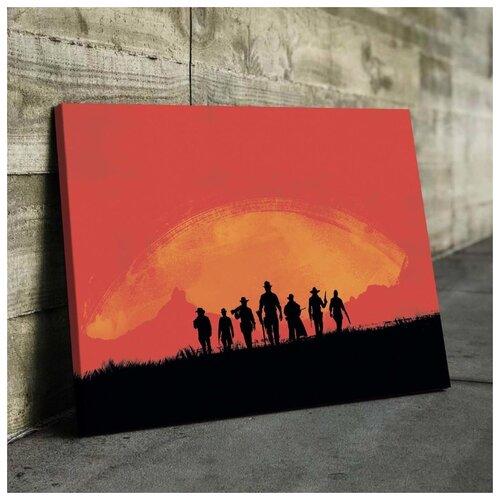 Картина Red Dead Redemption 2 50х70 см. натуральный холст