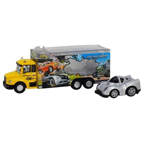 Купить Автовоз Пламенный мотор 870509 желтый/белый, Машинки и техника