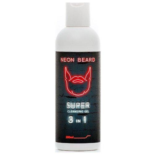 NEON BEARD Гель для умывания Red Neon 200 мл
