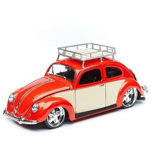 Купить Maisto Машинка 1:18 Classics - 1956 Volkswagen Beetle , оранжевая, Машинки и техника