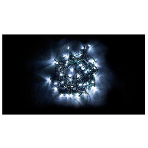 Гирлянда Feron Нить CL93 500 см, 750 ламп, холодный белый/зеленый провод