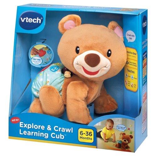 Интерактивная развивающая игрушка VTech Ползающий мишка коричневый развивающая игрушка 52431 коричневый