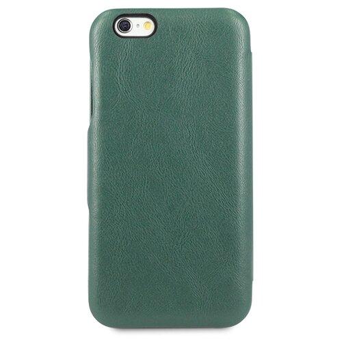 Кожаный чехол для Аpple iPhone 7 Plus и 8 Plus / Чехол Книжка на Эпл Айфон 7 Плюс и 8 Плюс с кармашком для карт (Зеленый)