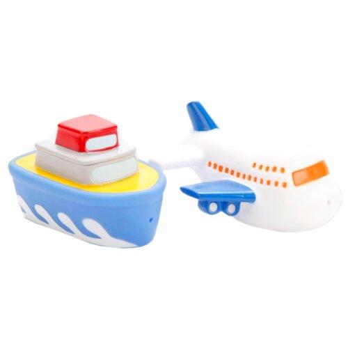 Купить Набор для ванной Играем вместе Корабль и самолет (LXB90_256) белый/синий, Игрушки для ванной