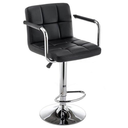 Стул Woodville Turit, металл/искусственная кожа, цвет: черный стул woodville kosta металл искусственная кожа цвет white black
