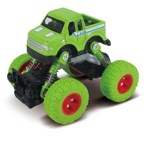 Машинка Funky Toys die-cast, инерционный механизм, рессоры, зеленая, 1:46 (FT61075)