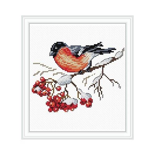 Купить Набор для вышивания М №09 №056 На заснеженной ветке 15 х 18 см, Жар-птица, Наборы для вышивания