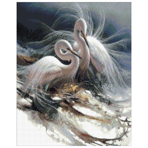 Купить Цапли набор для выкладывания стразами 40х50 Паутинка М-351, Алмазная вышивка