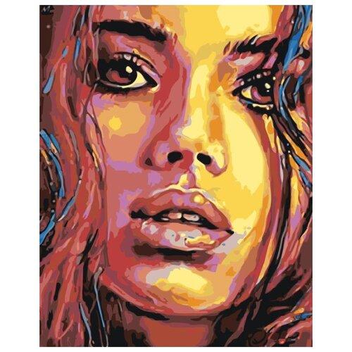 Купить Картина по номерам Живопись по Номерам Пронзительный взгляд , 40x50 см, Живопись по номерам, Картины по номерам и контурам