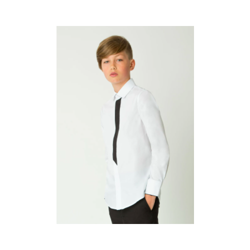 Рубашка Gulliver размер 146, белый, Рубашки  - купить со скидкой