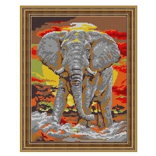 Купить Диамант Набор алмазной вышивки Слон (ДК-498П) 30х38 см, Алмазная вышивка