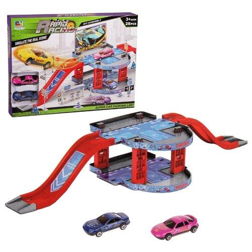 Купить Chang Yu CY380-7A красный/голубой/серый, Детские парковки и гаражи