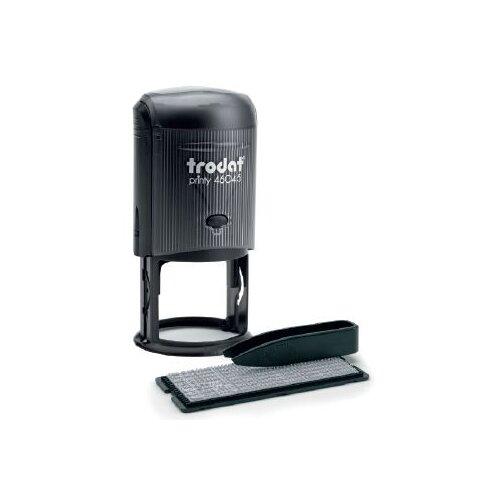 Фото - Печать Trodat 46045 R2 typo круглая самонаборная черная датер самонаборный 2 строки дата 4 мм typo dater 4755 db typo
