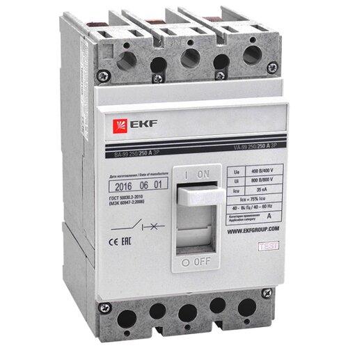 Автоматический выключатель EKF ВА-99/250 3P (термомагнитный) 35kA 250 А