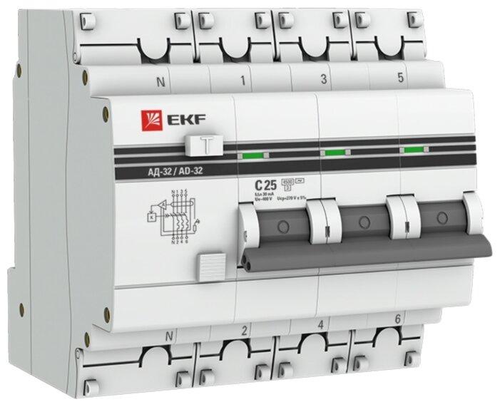 Дифференциальный автомат EKF АД-32 4П 30 мА C