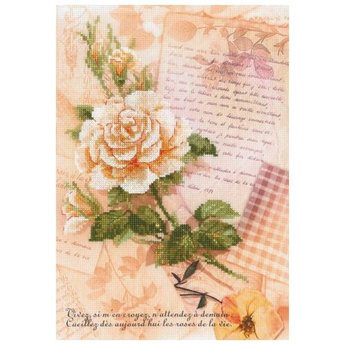 Набор Письма о любви. Роза частичная вышивка 21х30 Риолис 0035 РТ 0035 РТ