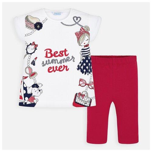 Комплект одежды Mayoral размер 110, белый/красный комплект одежды mayoral размер 110 белый зеленый