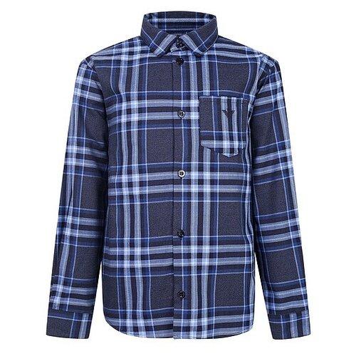 Рубашка EMPORIO ARMANI размер 128, синий рубашка emporio armani размер 128 синий