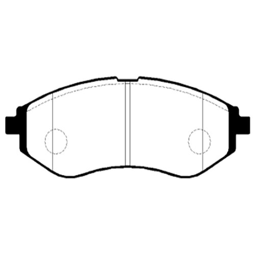 Фото - Дисковые тормозные колодки передние HONG SUNG BRAKE HP2011 для Daewoo Kalos, Daewoo Nubira (4 шт.) дисковые тормозные колодки передние hong sung brake hp5010 для toyota land cruiser 4 шт
