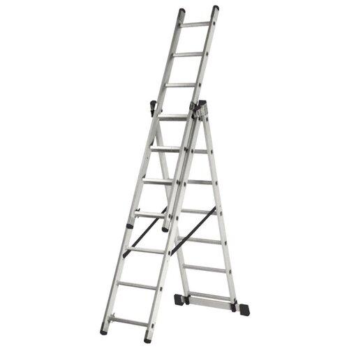 Лестница трансформер 3-секционная ВИХРЬ ЛА 3х7 лестница трехсекционная вихрь ла 3х12