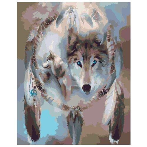Купить Картина по номерам Живопись по Номерам Знак волка , 40x50 см, Живопись по номерам, Картины по номерам и контурам