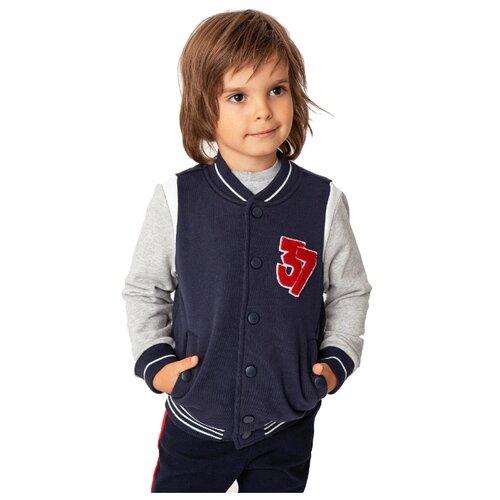 Купить Бомбер Gulliver 22005BMC1604 размер 110, синий, Куртки и пуховики