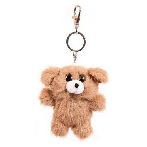 Купить Игрушка-брелок Junfa toys Флэтси мини Щенок 9.5 см, Мягкие игрушки
