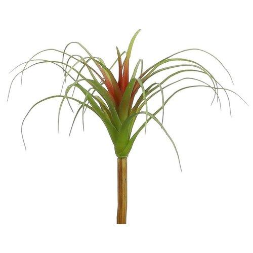 Декоративная ветка ТИЛЛАНДСИЯ, PVC, зелёная с красным, 24х26 см, Edelman