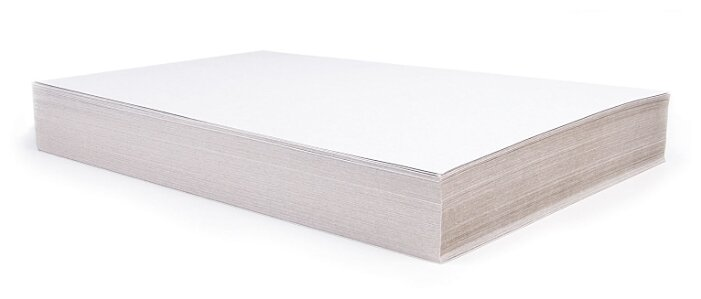 Белый картон BRAUBERG, A4, 100 л.