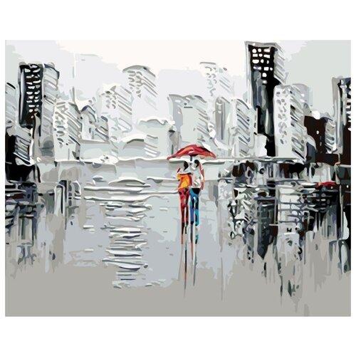 Купить Картина по номерам Живопись по Номерам Пара под зонтом 4 , 40x50 см, Живопись по номерам, Картины по номерам и контурам