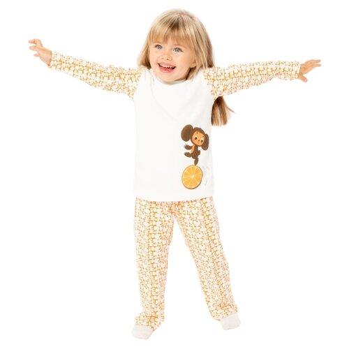 Купить Пижама Frutto Rosso размер 122, молочный/ оранжевый, Домашняя одежда
