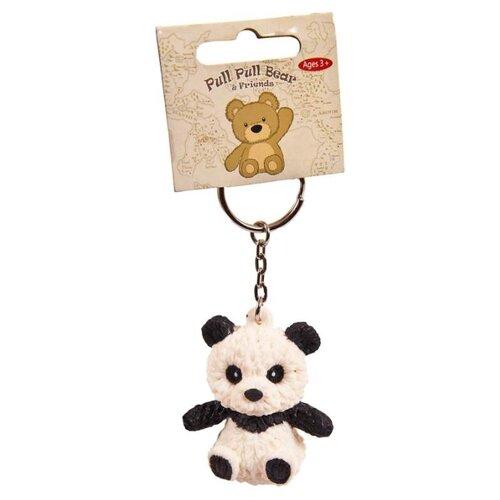 Купить Игрушка-мялка Junfa toys Pull Pull Bear Панда на брелке черный/белый, Игрушки-антистресс