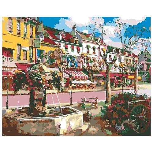 Купить Картина по номерам Живопись по Номерам Европейский городок , 40x50 см, Живопись по номерам, Картины по номерам и контурам