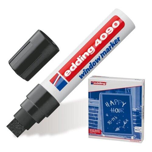 Фото - Маркер меловой EDDING 4090, 4-15 мм, ЧЕРНЫЙ, влагостираемый, для гладких поверхностей, Е-4090/1 канцелярия edding маркер для окон e 4090 4 15 мм