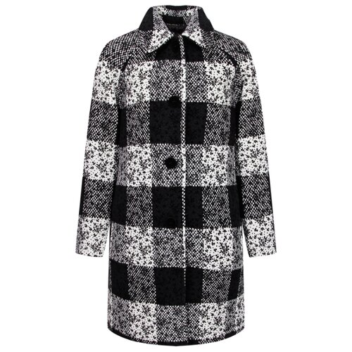 Купить Пальто Ermanno Scervino 47I CP07 SCO размер 164, черный/белый, Пальто и плащи