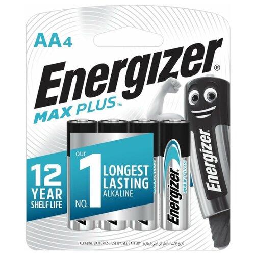 Фото - Батарейка Energizer Max Plus АА, 4 шт батарейка energizer cr123 1 шт 4 уп
