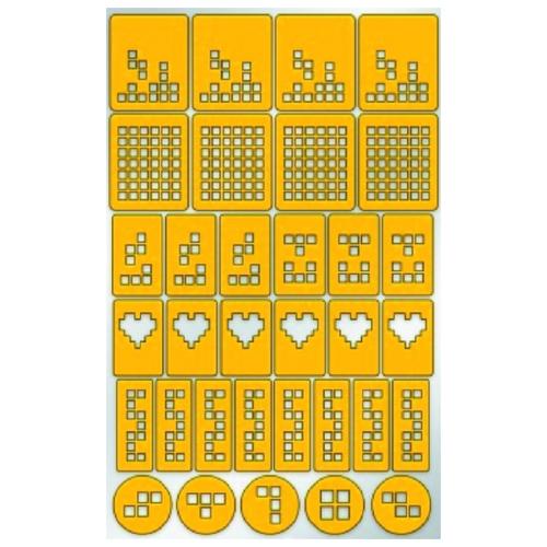 Купить Трафарет для дизайна PRIMA NAILS Тетрис желтый