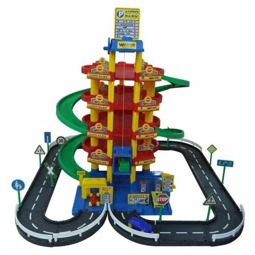 Купить Wader Паркинг 38104 красный/синий/зеленый/желтый, Детские парковки и гаражи