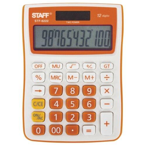 Калькулятор бухгалтерский STAFF STF-6222 оранжевый