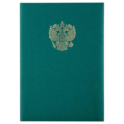 OfficeSpace Папка адресная с гербом А4, балакрон зеленый officespace папка адресная с гербом а4 балакрон синий