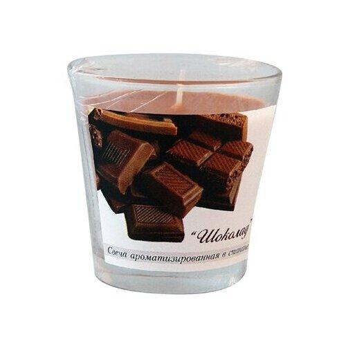 Свеча ароматизированная в стакане Шоколад высота 65 мм., диаметр 65 мм., 1 шт./уп.