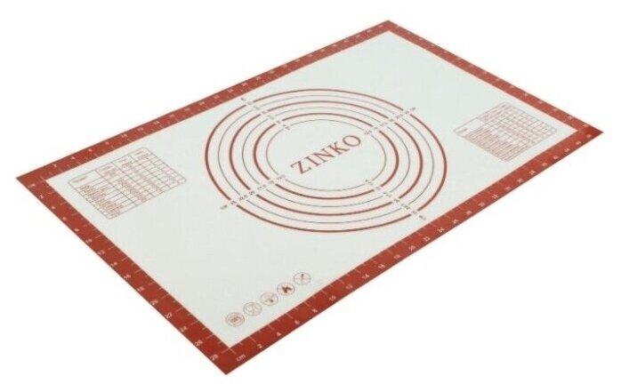Купить Силиконовый термостойкий коврик с разметкой для раскатки и выпечки теста ZINKO, усиленный армированный кордом, 52*32 см (разметка 48*28 см) по низкой цене с доставкой из Яндекс.Маркета